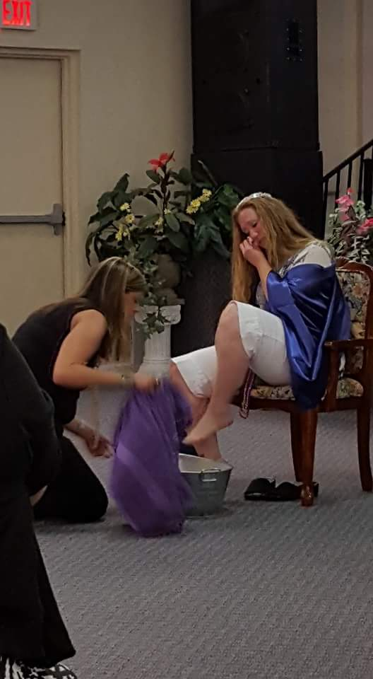 Krissy celebration foot washing